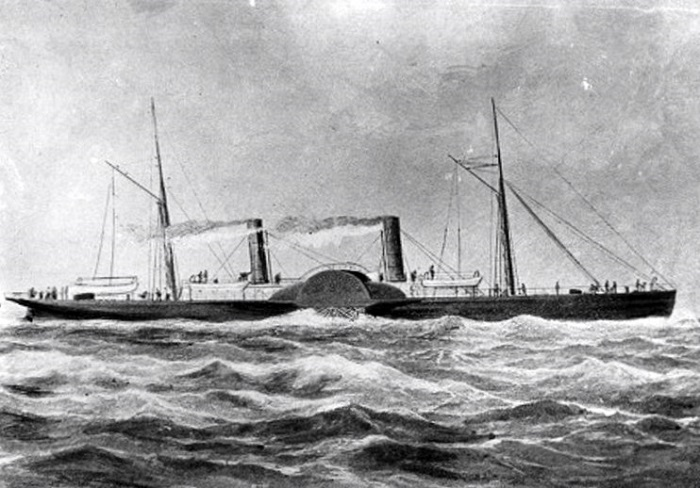 Blockade runner, Lithograph published during the Civil War