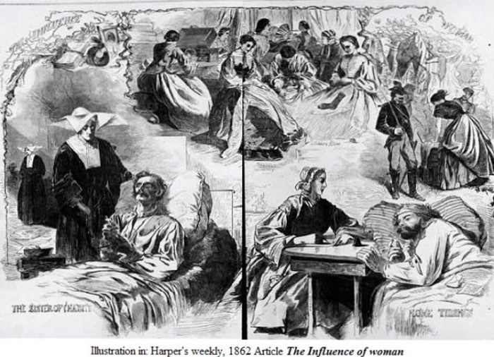 The Influence of Women,Illustration in Harper's weekly, 1862