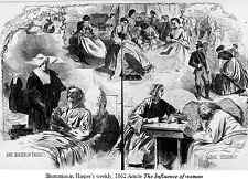 The Influence of Women, Illustration in Harper's Weekly, 1862
