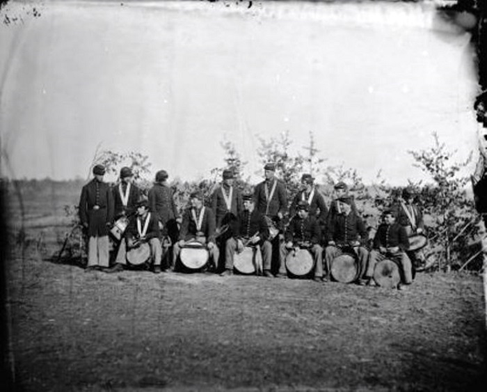 Drum corps of the 61st New York Infantry, Falmouth, VA